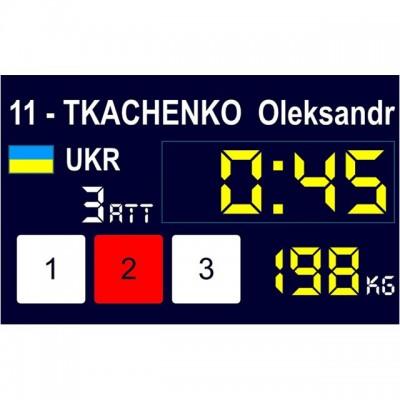 Табло для соревнований по тяжелой атлетике Eleiko 3001267 международная система оценивания