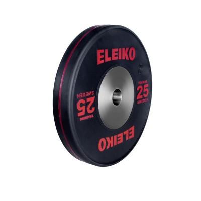 Олимпийский тренировочный диск Eleiko 3001121-25 для тяжелой атлетики 25 кг черный (d-50 мм), каучук