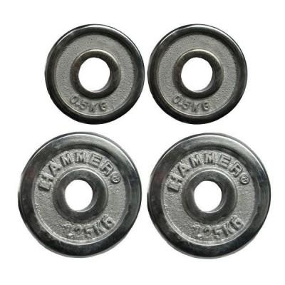 Диски хромированные Hammer 4670 2x0,5 кг + 2х1,25 кг (d-30 мм)
