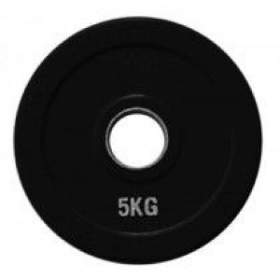 Диск олимпийский обрезиненный черный Alex RCP18-5