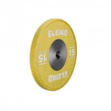 Олимпийский диск Eleiko 3001119-15 для соревнований по тяжелой атлетике 15 кг цветной (d-50 мм), каучук