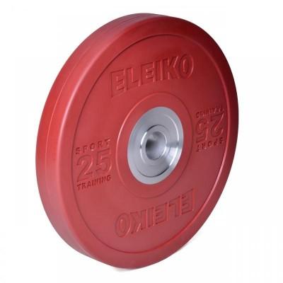 Диск Eleiko 3001949-25 для тренировок 25 кг цветной (d-50,4-51 мм), каучук
