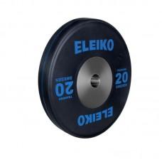 Олимпийский тренировочный диск Eleiko 3001121-20 для тяжелой атлетики 20 кг черный (d-50 мм), каучук