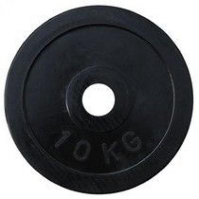 Диск олимпийский обрезиненный черный Alex RCP11 10кг 51 мм