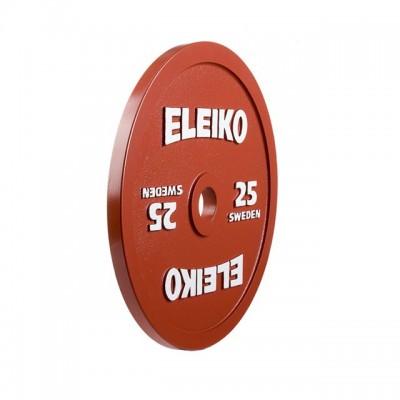 Диск Eleiko 3000231 для соревнований по пауэрлифтингу 25 кг (d-50 мм), металлический