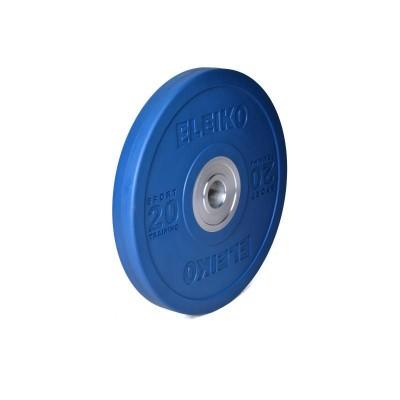 Диск Eleiko 3001949-20 для тренировок 20 кг цветной (d-50,4-51 мм), каучук
