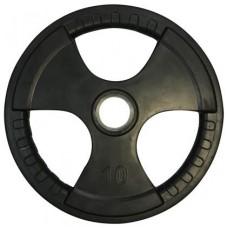 Диск олимпийский обрезиненный с хватами Newt Olimpic 10 кг