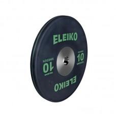Олимпийский тренировочный диск Eleiko 3001121-10 для тяжелой атлетики 10 кг черный (d-50 мм), каучук