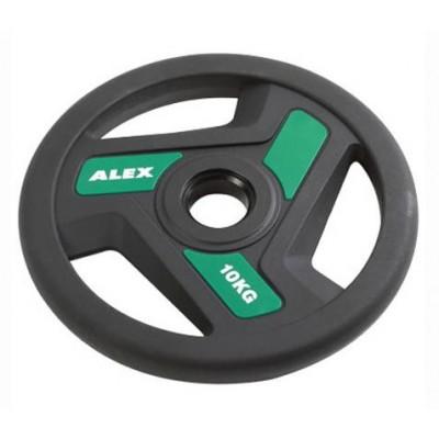 Диск черный Alex 10 кг P-TPU-10K