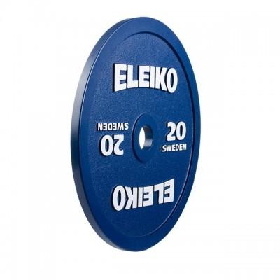Диск Eleiko 3000232 для соревнований по пауэрлифтингу 20 кг (d-50 мм), металлический