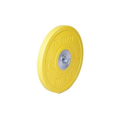 Диск Eleiko 3001949-15 для тренировок 15 кг цветной (d-50,4-51 мм), каучук