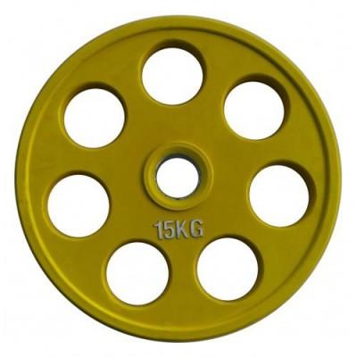 Цветной диск олимпийский обрезиненный,Alex RCP19-15