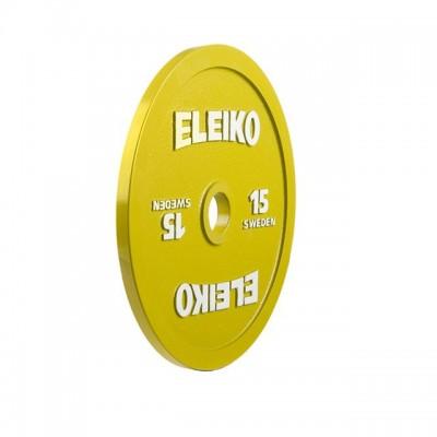 Диск Eleiko 3000233 для соревнований по пауэрлифтингу 15 кг (d-50 мм), металлический