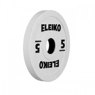Олимпийский диск Eleiko 124-0050R для соревнований и тренировок 5,0 кг цветной (d-50 мм), обрезиненный