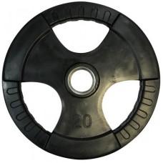 Диск олимпийский обрезиненный с хватами Newt Olimpic 20 кг