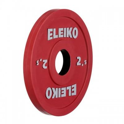 Олимпийский диск Eleiko 124-0025R для соревнований и тренировок 2,5 кг цветной (d-50 мм), обрезиненный