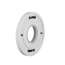 Олимпийский диск Eleiko 121-0005F для соревнований по тяжелой атлетике 0,5 кг цветной (d-50 мм), обрезиненный