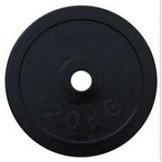 Диск олимпийский обрезиненный черный Alex RCP11 20кг 51 мм