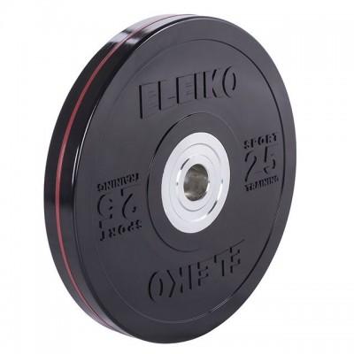 Диск Eleiko 3001950-25 для тренировок 25 кг черный (d-50,4-51 мм), каучук