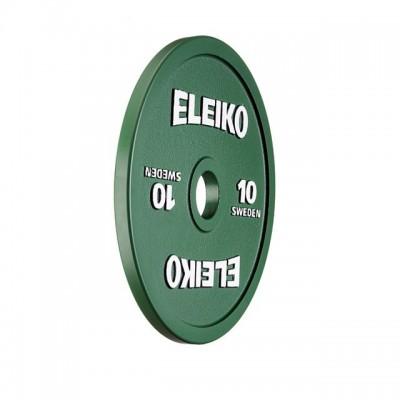 Диск Eleiko 3000234 для соревнований по пауэрлифтингу 10 кг (d-50 мм), металлический