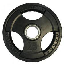 Диск олимпийский обрезиненный с хватами Newt Olimpic 25 кг