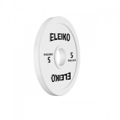 Диск Eleiko 3000235 для соревнований по пауэрлифтингу 5 кг (d-50 мм), металлический
