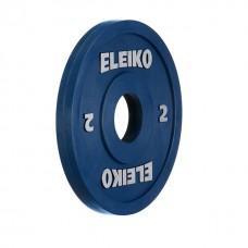 Олимпийский диск Eleiko 124-0020R для соревнований и тренировок 2,0 кг цветной (d-50 мм), обрезиненный