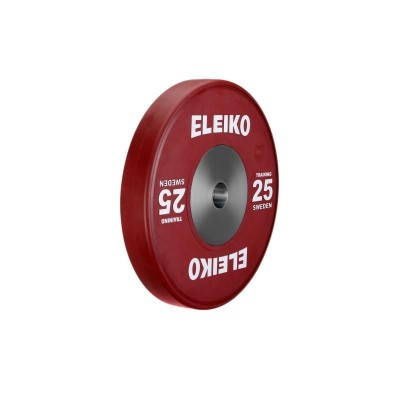 Олимпийский тренировочный диск Eleiko 3001120-25 для тяжелой атлетики 25 кг цветной (d-50 мм), каучук