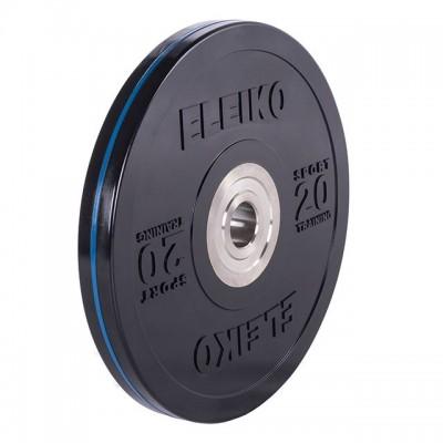Диск Eleiko 3001950-20 для тренировок 20 кг черный (d-50,4-51 мм), каучук