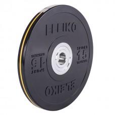 Диск Eleiko 3001950-15 для тренировок 15 кг черный (d-50,4-51 мм), каучук