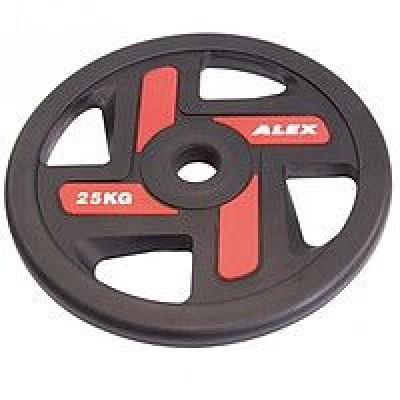Диск черный Alex 25 кг P-TPU-25K