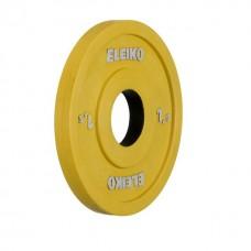 Олимпийский диск Eleiko 124-0015R для соревнований и тренировок 1,5 кг цветной (d-50 мм), обрезиненный