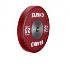 Олимпийский диск Eleiko 3001119-25 для соревнований по тяжелой атлетике 25 кг цветной (d-50 мм), каучук