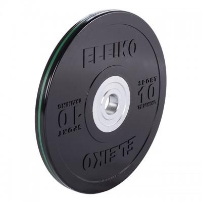 Диск Eleiko 3001950-10 для тренировок 10 кг черный (d-50,4-51 мм), каучук