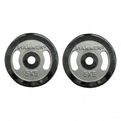 Диски хромированные Hammer 4673 2x5 кг ( d-30 мм)