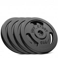 Сет из металлических дисков Hop-Sport Strong 4x5 кг