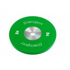 Диск для кроссфита соревновательный Fitnessport RCP 22-10 кг
