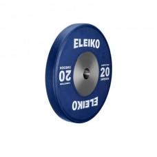 Олимпийский диск Eleiko 3001119-20 для соревнований по тяжелой атлетике 20 кг цветной (d-50 мм), каучук
