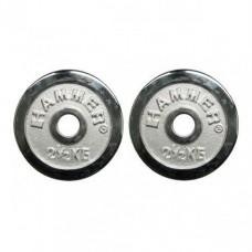Диски хромированные Hammer 4672 2x2,5 кг ( d-30 мм)