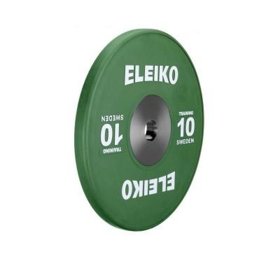 Олимпийский тренировочный диск Eleiko 3001120-10 для тяжелой атлетики 10 кг цветной (d-50 мм), каучук
