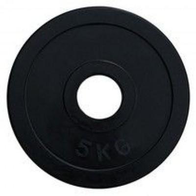 Диск олимпийский обрезиненный черный Alex RCP11 5кг 51 мм