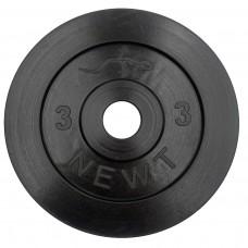 Диск стальной обрезиненный 3 кг Newt Home, диаметр – 28 мм