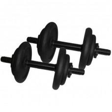 Гантели наборные стальные Newt 2 шт по 8,5 кг