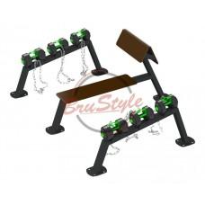 Гантельный ряд: 2*10 кг / 2*14 кг / 2*18 кг BruStyle SG611.2