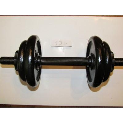 Гантель тренировочная разборная БодиМакс 17 кг ВМ-015