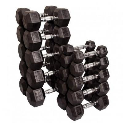 Гантельный ряд Tunturi 10 пар от 1 до 10 кг