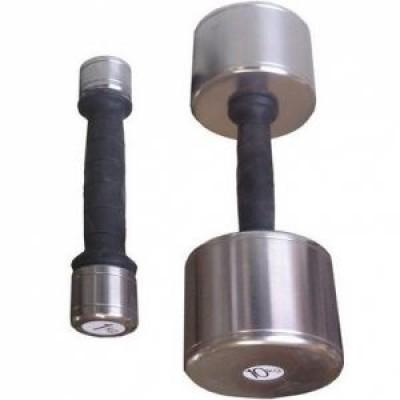 Гантель пластик/хром 1 кг InterAtletika SТ541-1