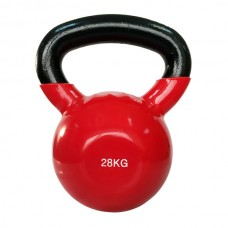 Гиря виниловая SPART 28 кг/ красная DB2174-28Red