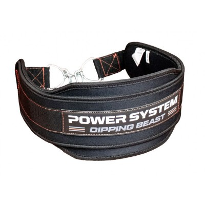 Пояс для отягощений Power System Dipping Beast PS-3860 Black/Red