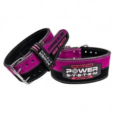 Пояс для пауэрлифтинга Power System PS-3850 Strong Femme Black/Pink M